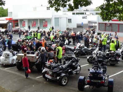 Over 300 motorcycles and 20 Spyders showed up for the Ulysses Toy Run.