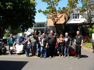 Last year about a dozen Kiwi Spyder riders rode over to join us our first day in country.