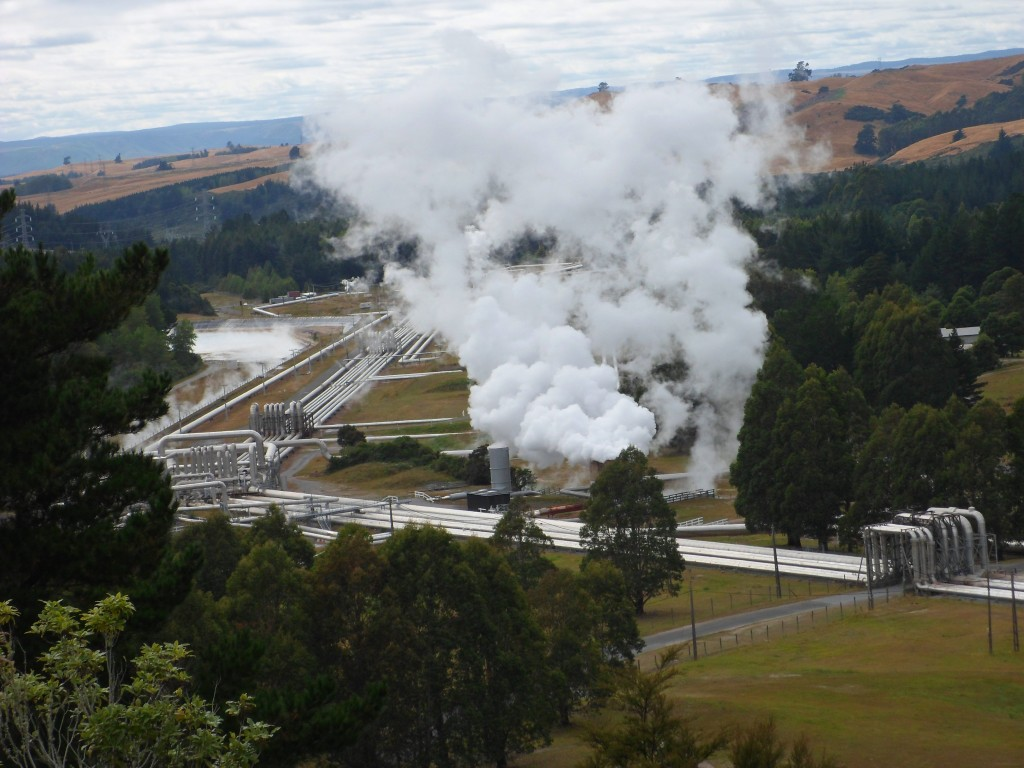 "New Zealand is one of the most ""green"" countries in the world, utilizing the volcanic nature of the islands to pipe steam right out of the ground for generating electricity."
