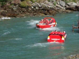 One of the few things I've ever found even more exciting than riding my Spyder is riding up the Shotover Gorge on a 400HP jet boat! (Queenstown, South Island)